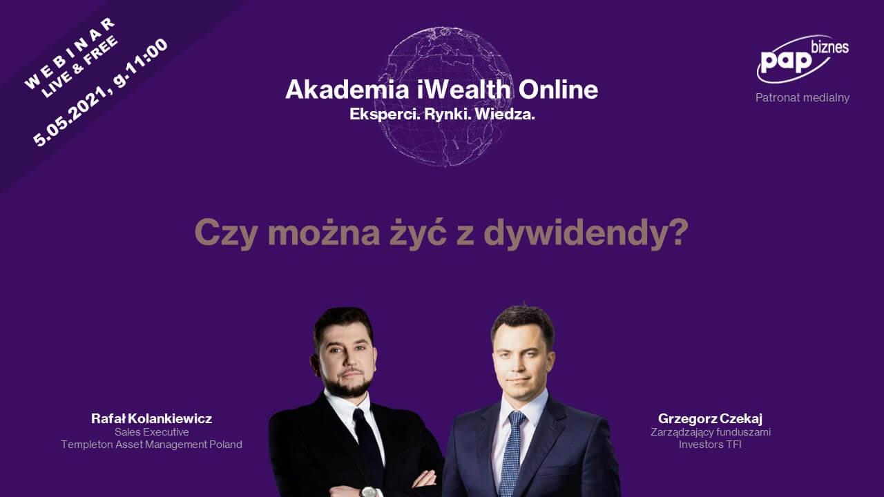 Akademia iWealth - webinar oinwestowaniu współki dywidendowe